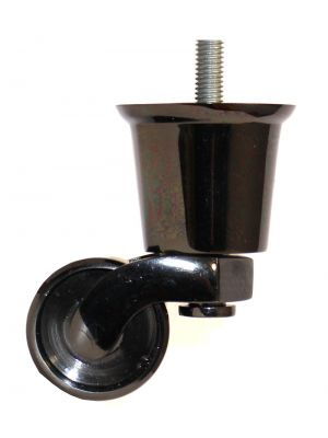 Black Nickel Castor Round Cup Large with Threaded Bolt
