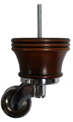 Cassia Antique Furniture Legs with Large Chrome Shallow Cup Castors